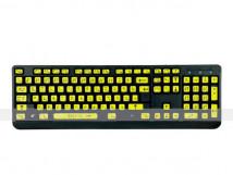 Набор наклеек для маркировки клавиатуры азбукой Брайля. 110 x 350мм