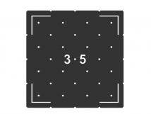 Трафарет для установки индикаторов 10087-12, через сверление, DIN. 330 x 330 x 4мм