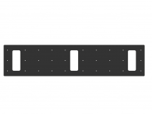Трафарет для установки индикаторов через сверление, 210х950х3 мм