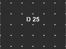 Трафарет для установки индикаторов D25 в линейном порядке через сверление, тактильная зона 300х300мм
