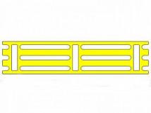 Трафарет для установки индикаторов посредством приклеивания, 190х850x3мм