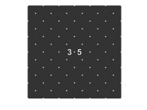 Трафарет для установки индикаторов через сверление 500 x 500 x 3мм