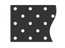 Трафарет для установки индикаторов 10087-5-1, посредством приклеивания, DIN 300 x 900 x 1мм