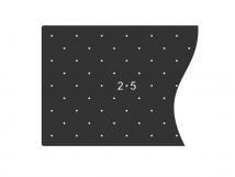 Трафарет для установки индикаторов через сверление, 300 x 1050 x 3мм
