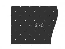 Трафарет для установки индикаторов 10087-8, через сверление, DIN. 330 x 1000 x 1мм