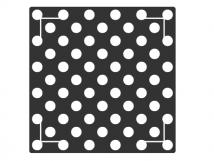 Трафарет для установки индикаторов 10087-9, через приклеивание, ГОСТ. 350 x 350 x 4мм