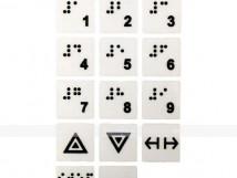 Набор тактильных наклеек для маркировки кнопок лифта №5. 170 x 95мм