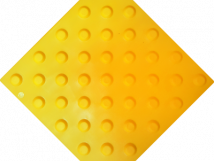 Плитка тактильная жёлтая, ПВХ на самоклеящейся основе, с шахматным расположением конусов, 300 x 300 мм