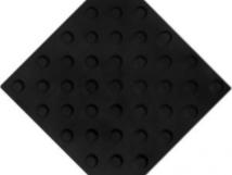 Плитка тактильная, полиуретан, шахматное расположение конусов, 300x300х4 мм