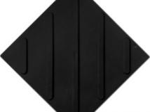 Плитка тактильная полиуретановая, диагональное расположение рифов, цвет чёрный, 300x300x4 мм