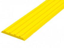 Направляющая тактильная лента вставка в алюминиевый профиль 29 мм желтая