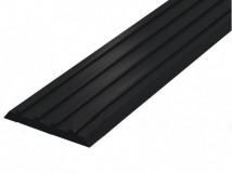 Направляющая тактильная лента вставка в алюминиевый профиль 29 мм черная