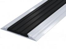 Направляющая тактильная лента AL46-P(ZH) черная в алюминиевом профиле