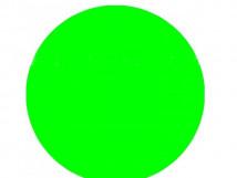 Круг для контрастной маркировки дверных проемов, 200мм, флуорисцентный