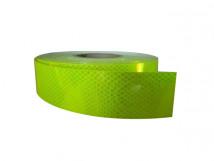 Лента для контрастной маркировки дверных проемов и ступеней, флуоресцентная (зелёная) 50 мм