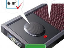 Визуально-акустическое табло с разрешением 32х192, подключена акустическая система 2х10 Вт ПДУ, датчик температуры. 2640 x 400мм