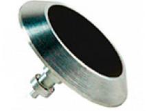 Комбинированный тактильный индикатор КТ 04 Д35 х 5 (AL/PL) l-15. 35 x 35 x 5мм с черной вставкой
