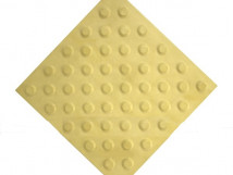 Плитка тактильная из высокопрочного бетона с шахматным расположением конусов, цвет жёлтый, 300x300 мм
