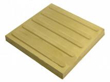 Плитка тактильная из высокопрочного бетона с продольным расположением рифов, цвет жёлтый, размер 300 x 300мм