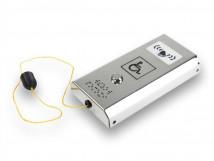Антивандальная кнопка вызова персонала со звуковым сигналом и шнурком AISI 304 185x96x29мм