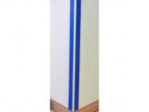Защита углов стен на алюминиевом каркасе и ПВХ покрытием, цвет белый/вставка 1000 x 75 x 75мм