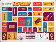 Стенд обучающий тактильно-звуковой для ДОУ «Музыкальные инструменты»