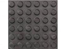 Плитка тактильная керамогранит с линейным расположением конусов, черная, 300х300 мм