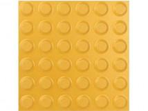 Плитка тактильная керамогранит с линейным расположением конусов, желтая, 300х300 мм