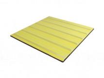 Плитка тактильная керамическая с продольными рифами для обозначения безопасного пути движения, желтая, 300х300мм