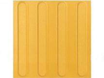 Плитка тактильная керамогранит с продольными рифами, желтая, 300х300мм 2 категории