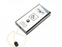 Антивандальная кнопка вызова персонала с вибрацией и шнурком AISI 304 185x96x29мм