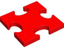 Объемная напольная мозайка Основной элемент 10704. 250x250x30мм