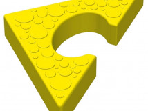 Объемная напольная мозайка Треугольный элемент 10708. 180 x 180 x 30мм