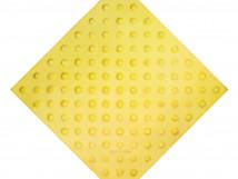 Плитка тактильная из высокопрочного бетона с шахматным расположением конусов, 500x500 мм