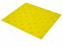 Плитка тактильная из ПВХ, шахматное расположение, 300 x 300 x 4 мм