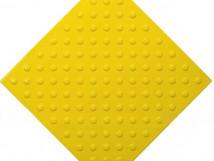 Плитка тактильная из ПВХ, шахматное расположение, 500 x 500 мм