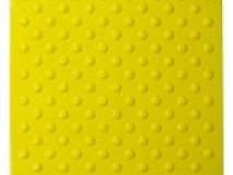 Плитка тактильная полиуретановая, шахматное расположение конусных рифов, цвет жёлтый, 500x500х4 мм