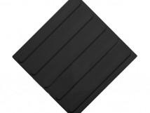 Плитка тактильная полиуретановая, чёрная, продольное расположение рифов, 300x300x4 мм