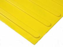 Плитка тактильная жёлтая, полиуретан, самоклеящаяся основа, с продольным расположением тактильных рифов, размеры 300 x 300 мм
