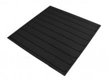 Плитка тактильная полиуретановая,черная , продольное расположение рифов, 500 x 500 x 4 мм