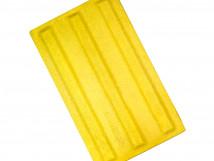 Плитка тактильная из высокопрочного бетона с продольным расположением рифов, цвет жёлтый, размер 180 x 300мм
