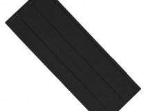 Плитка тактильная, ПУ, продольное расположение рифов, цвет черный, размер 180 x 500 x 4 мм