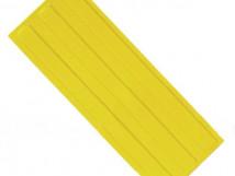 Плитка тактильная, ПВХ, продольное расположение рифов, цвет жёлтый, размер 180 x 500 x 4 мм