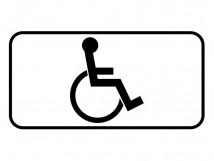 Дорожный знак 8.17 «для инвалида»