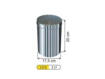 Урна для санузла с поворотной крышкой (3л)