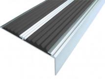 Алюминиевый угол-порог с двумя вставками 68 мм/5,5 мм/22,5 мм