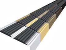 Анодированный угол-порог с двумя вставками против скольжения 68 мм/5,5 мм/22,5 мм