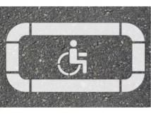 Трафарет «Парковка для инвалидов»