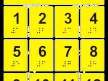 Набор тактильных наклеек для маркировки кнопок лифта Стандарт